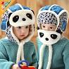 Шикарная шапка - шлем Панда разные цвета 48-54 см 1,5-6 лет мальчику, девочке Харьков